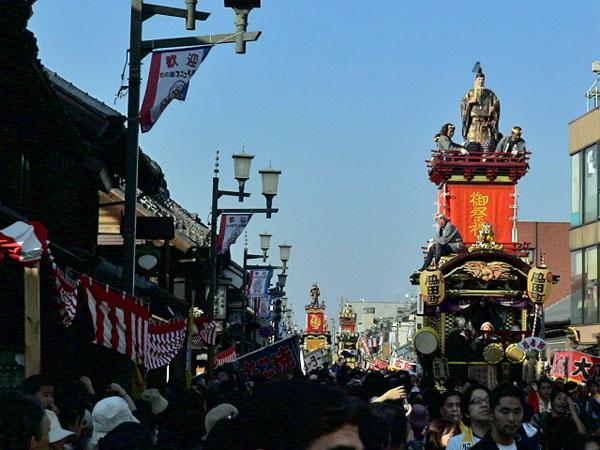 とびきり晴天の川越祭り