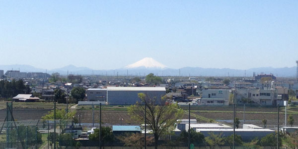 富士山が見える、眺望のいい朝