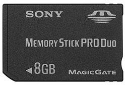 8GBのメモリースティック