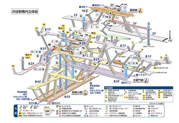 迷宮化する渋谷駅