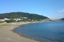 夏の終わり、葉山・一色海岸へ