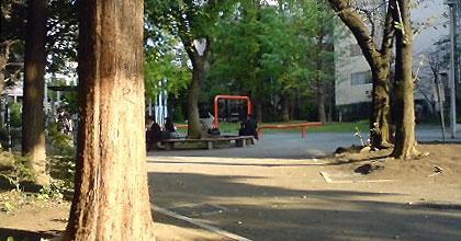 八丁堀・桜川公園、秋の昼下がり