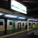 乗り換え駅を乗り過ごし、土呂駅下車