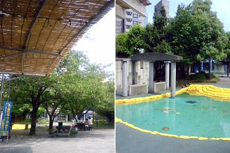 夏支度の鉄砲洲公園