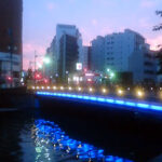 八丁堀、高橋の夜景
