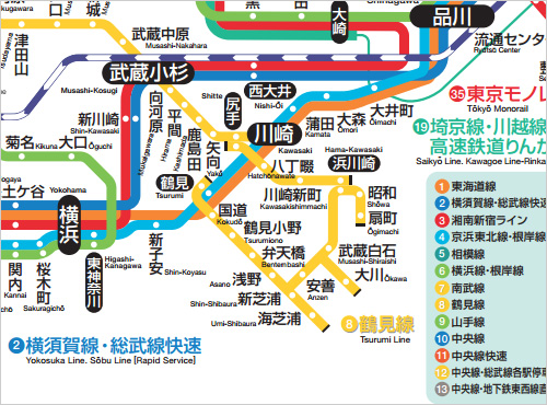 JR鶴見線路線図