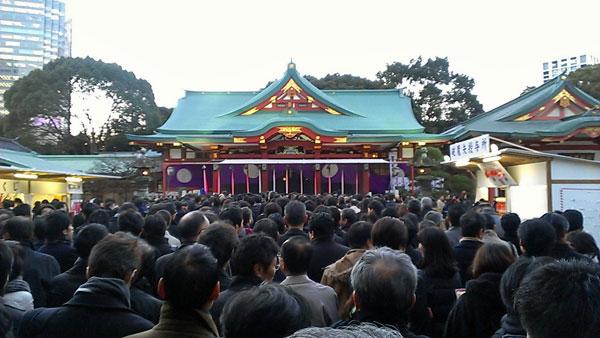 仕事の初詣第一弾、赤坂の日枝神社へ