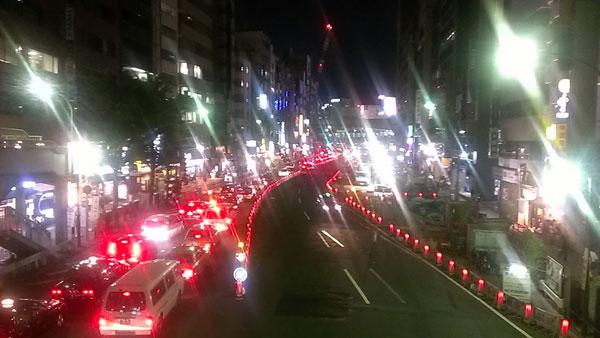 明治通り渋谷夜景