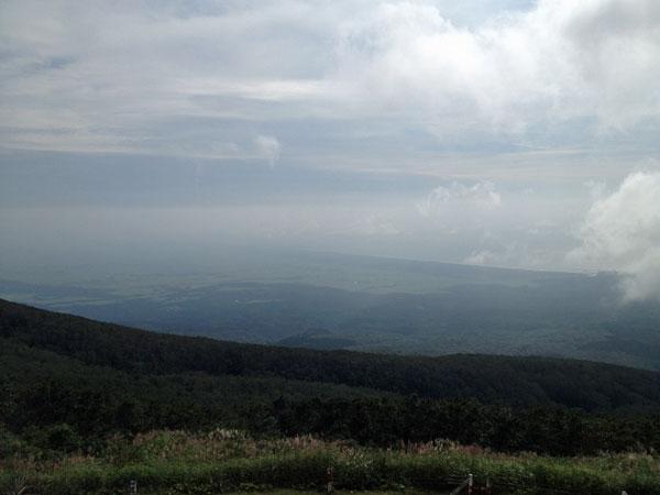 鳥海山から見た庄内平野