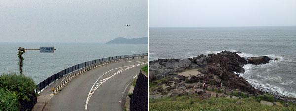 十六羅漢岩への道