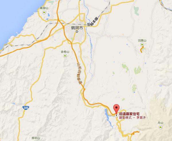 田麦俣への地図