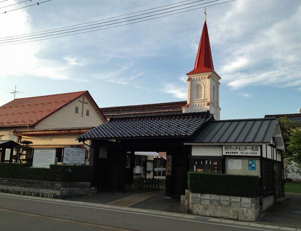 庄内旅行- 武家門をくぐり「鶴岡カトリック教会」へ