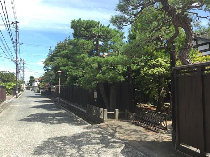 水沢・武家屋敷街