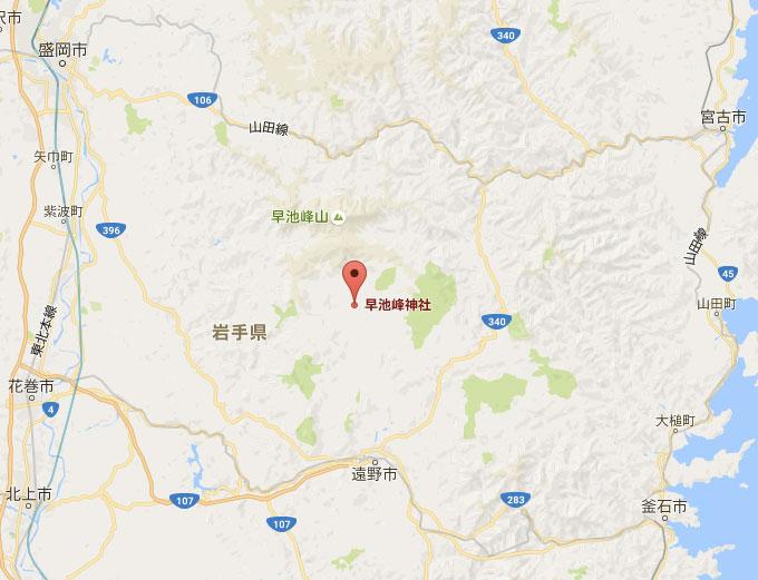 早池峰山地図