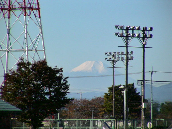 川島町平成の森公園から見た富士山