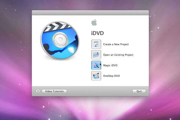 iDVD画面