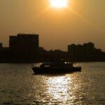 広州・珠江の夕暮れ