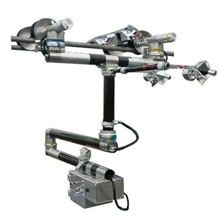 超高圧線の点検ロボット