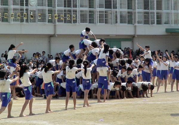 小学校運動会の組体操