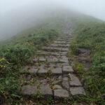月山・石の階段