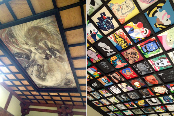 鶴岡・注連寺の天井画