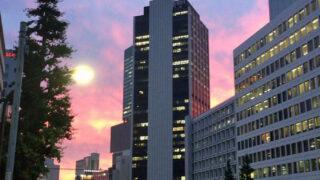 渋谷・六本木通りの夕焼け