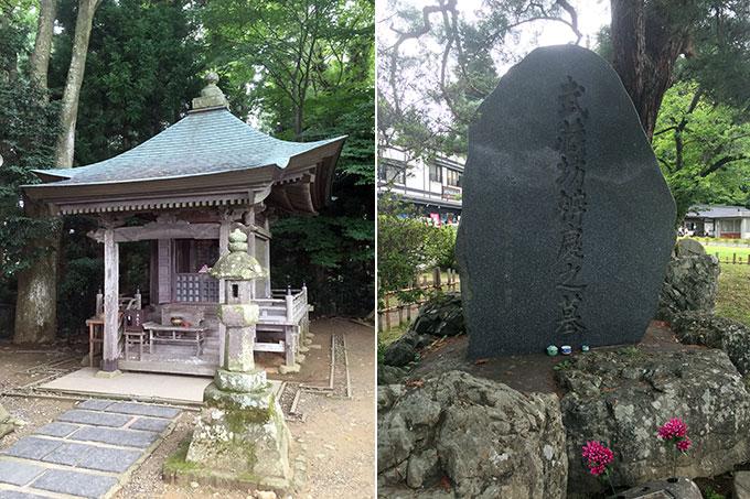 高舘義経堂と武蔵坊弁慶の墓
