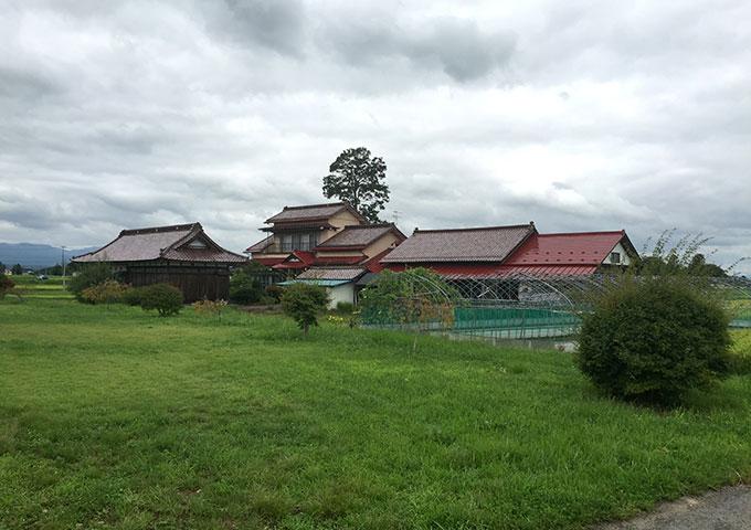 胆沢城近くの農家