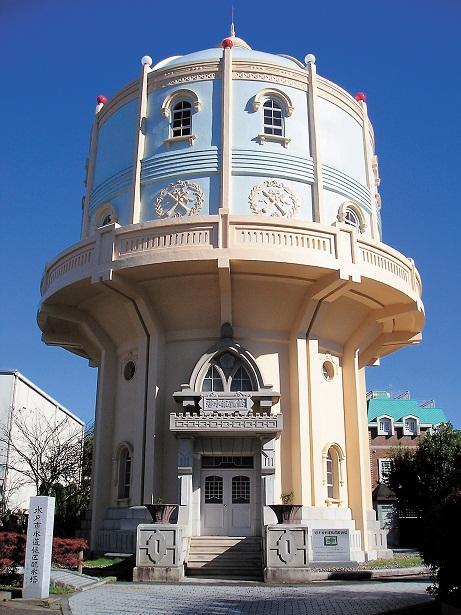 水戸市水道低区配水塔