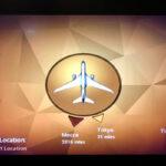エティハド航空機内 メッカポインター
