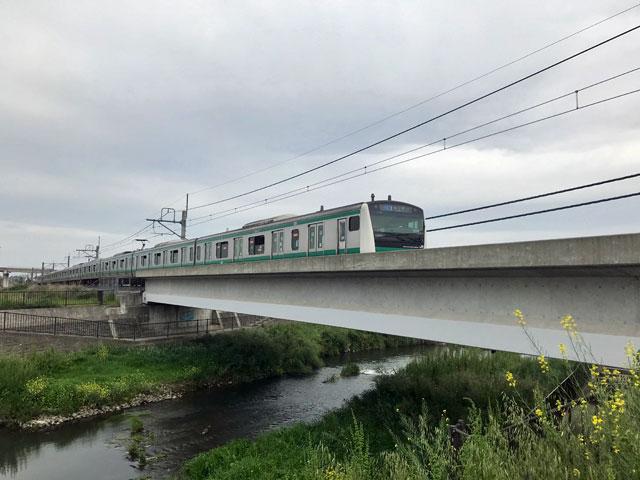 JR川越線 新河岸川橋梁