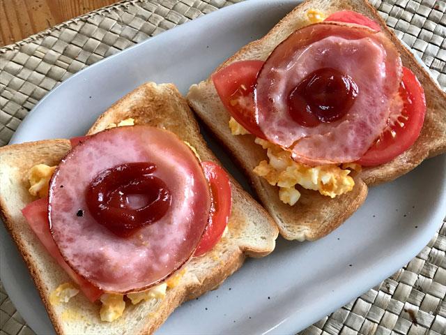 ハム玉子サンドイッチ