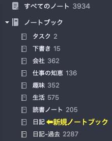Evernote日記の分割 手順3