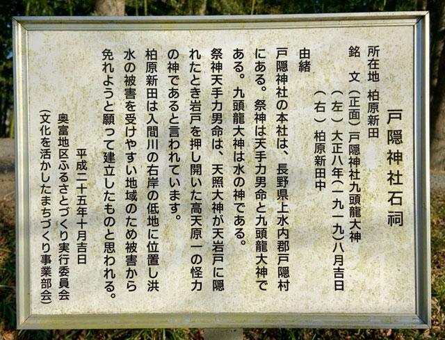戸隠神社九頭龍大神(柏原新田)