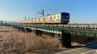 JR川越線入間川橋梁