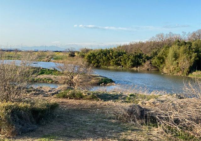 越辺川・小畔川合流点