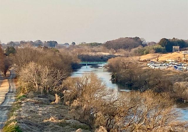 開平橋から西野橋の眺望