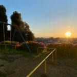 西沼公園の夕景(ふじみ野市)