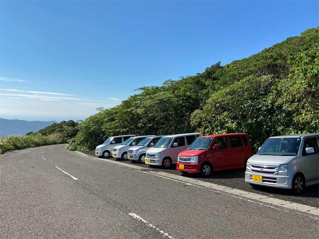 八丈富士・七合目登山口駐車場
